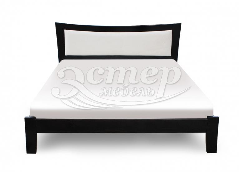 Кровать Вегас с мягкой вставкой из массива дуба
