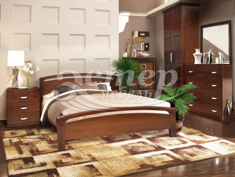 Кровать Альба из массива дуба
