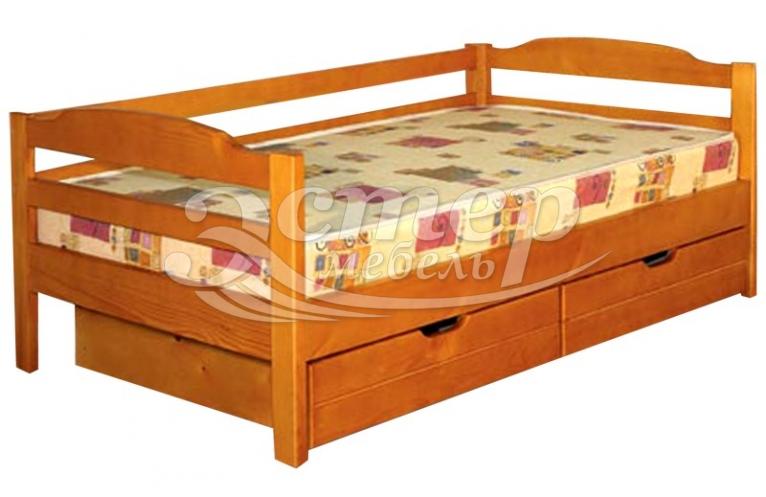 Кровать Детская с ящиками Либерти 2 из массива сосны