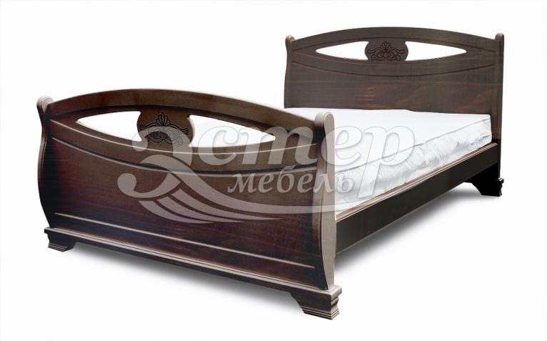 Кровать Аверса из массива дуба