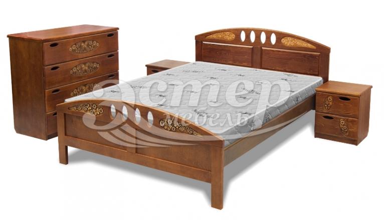 Кровать Оливер из массива березы