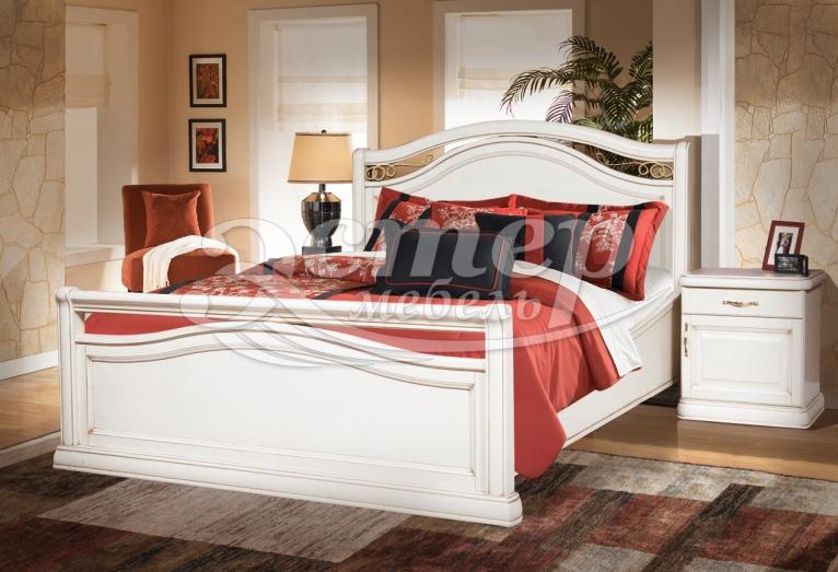 Кровать Грация из массива бука