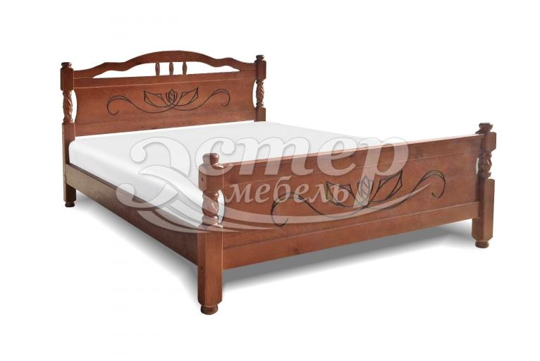 Кровать Каролина-1 из массива дуба