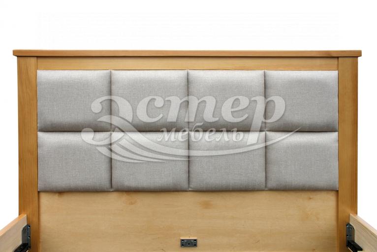Кровать Колорадо с мягкой вставкой из массива березы