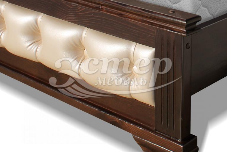 Кровать Листаль из массива березы
