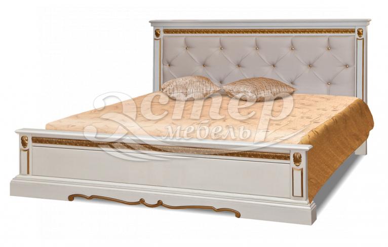 Кровать Милано-тахта с каретной стяжкой из массива березы