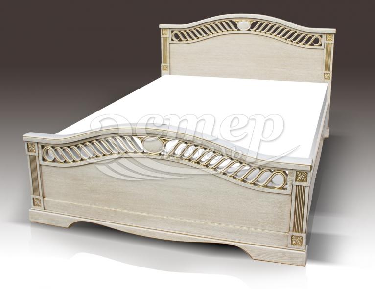 Кровать Мэриан из массива сосны (резьба береза)