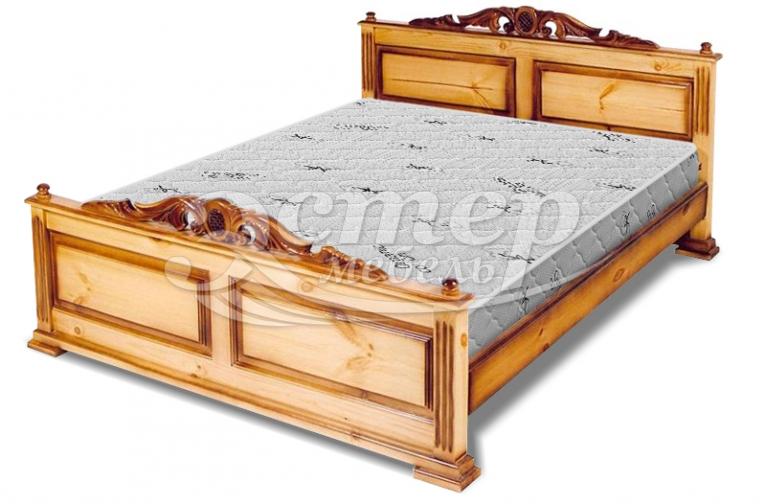Кровать Старк из массива дуба