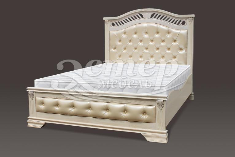 Кровать Флавия Люкс из массива дуба