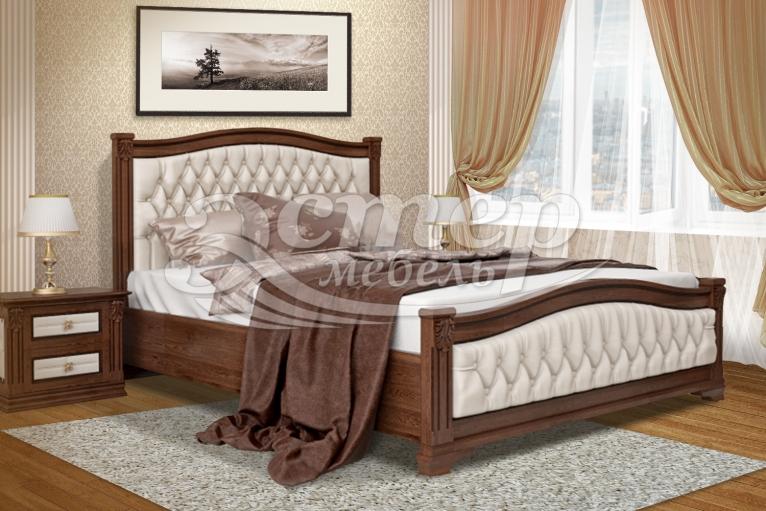 Кровать Соната из массива дуба