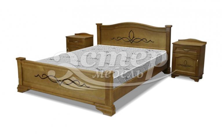 Кровать Брюссель из массива дуба
