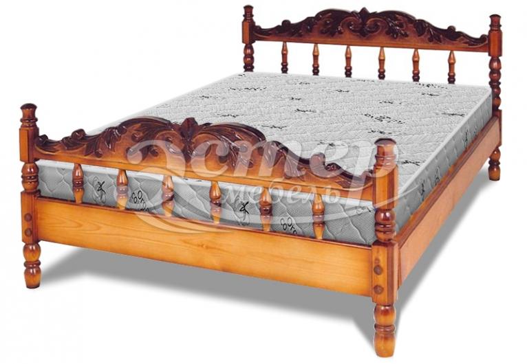 Кровать Точенка Торонто (резьба объемная №1) из массива бука