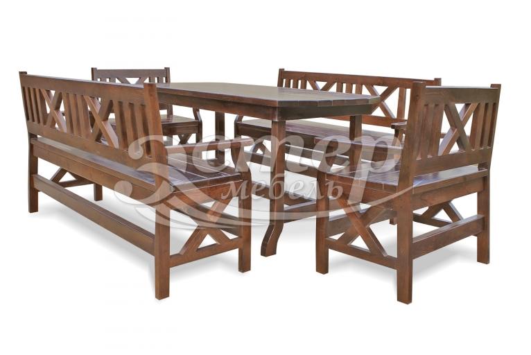 Набор мебели для веранд и террас Дубрава из массива бука