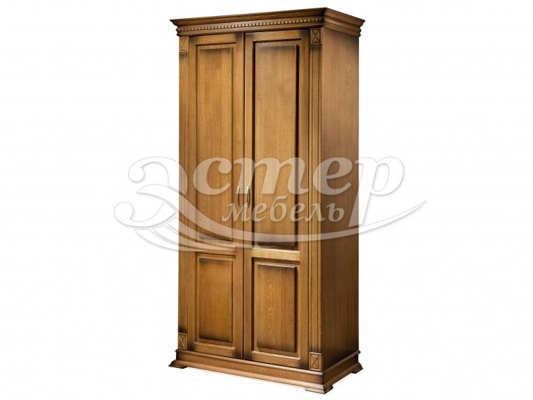 Шкаф 2-х створчатый Флоренция-1 (полка, штанга) из массива березы