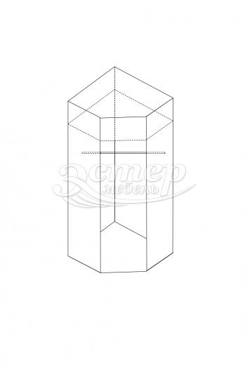 Шкаф 1-створчатый угловой из серии