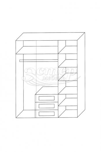 Шкаф 3-створчатый из серии