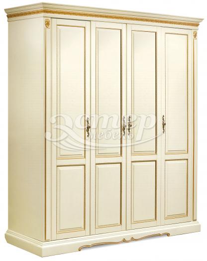Шкаф Милано 4-х створчатый из массива березы