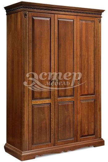 Шкаф Милано 3-х створчатый из массива сосны