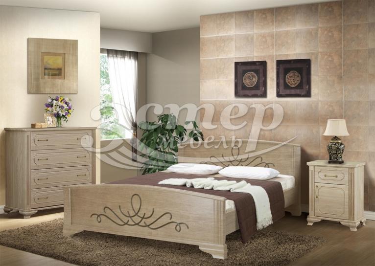 Спальный гарнитур Гудзон из массива дуба