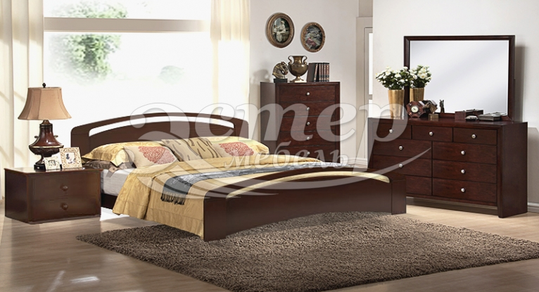 Спальный гарнитур Альба Люкс из массива березы