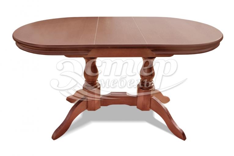 Кухонный раздвижной стол Мемфис из массива бука