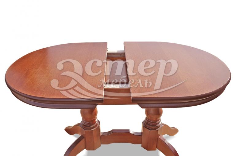 Кухонный раздвижной стол Мемфис из массива дуба