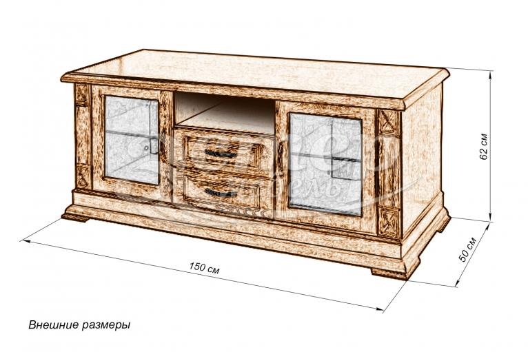 Набор мебели Гранада 2 в гостинную из массива сосны