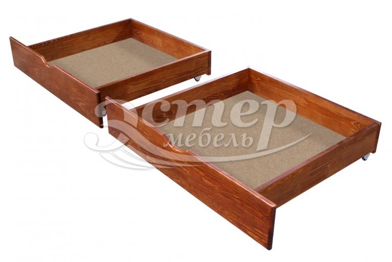 Ящик подкроватный на колесиках из массива дуба