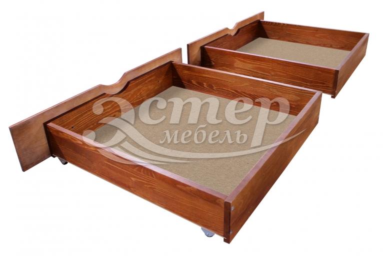 Ящик подкроватный на колесиках из массива бука