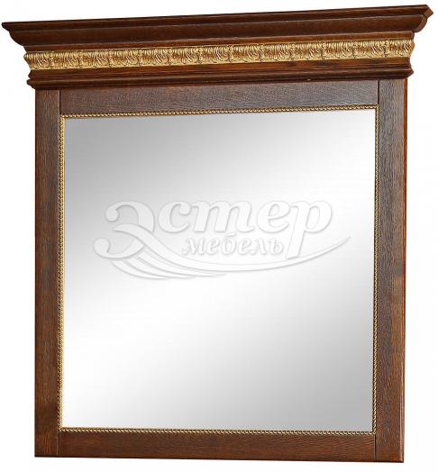 Зеркало Милано с багетом из массива сосны