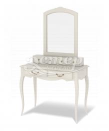 Дамский столик Прованс с надстройкой и зеркалом из массива березы