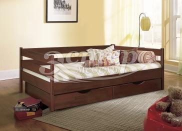 Кровать Детская с ящиками Либерти 1 из массива березы с подъемным механизмом