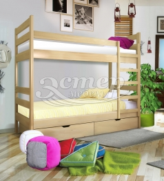 Детская Кровать двухъярусная Колорадо 1 из массива сосны