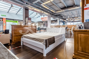Кровать Варяг Nice из массива сосны (белая эмаль) с подъемным механизмом