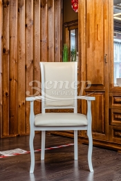 Кресло Легранж из массива березы (белая эмаль)