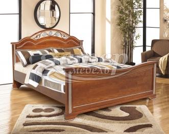 Односпальная кровать Пальмира из массива сосны
