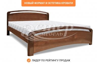 Односпальная кровать Альба Люкс из массива сосны