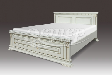 Кровать Верди из массива сосны с подъемным механизмом