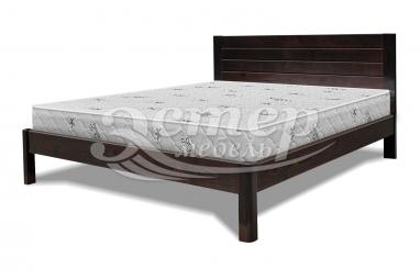 Кровать Варяг из массива сосны с подъемным механизмом