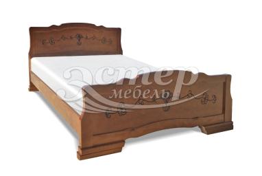 Кровать Каролина-2 из массива березы с подъемным механизмом