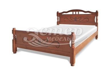Кровать Каролина-1 из массива березы с подъемным механизмом