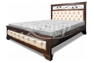 Кровать Листаль из массива дуба