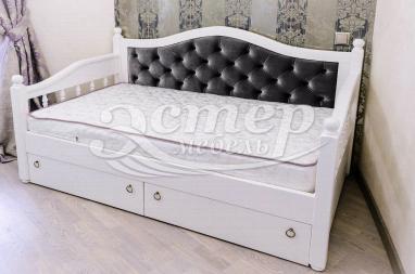 Кровать Милано детская из массива березы с выдвижными ящиками