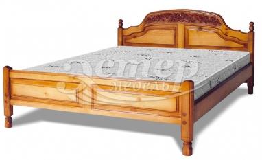 Кровать Антонио (резьба шапкой) из массива березы