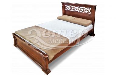 Кровать Тартус из массива сосны с подъемным механизмом