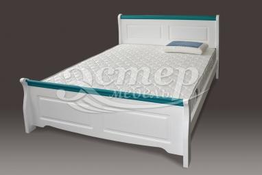 Кровать Прованс Ниас из массива сосны с подъемным механизмом