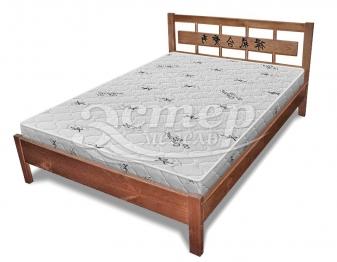 Кровать Сория с орнаментом из массива дуба