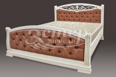 Кровать Сицилия из массива сосны с подъемным механизмом