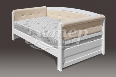 Кровать Оксфорд Soft из массива сосны с подъемным механизмом