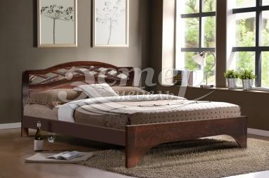 Кровать Винница из массива сосны (резьба береза)